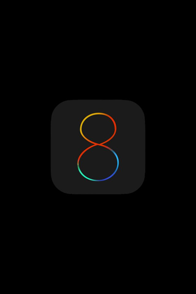Apple IOS8 Dark Logo Android wallpaper