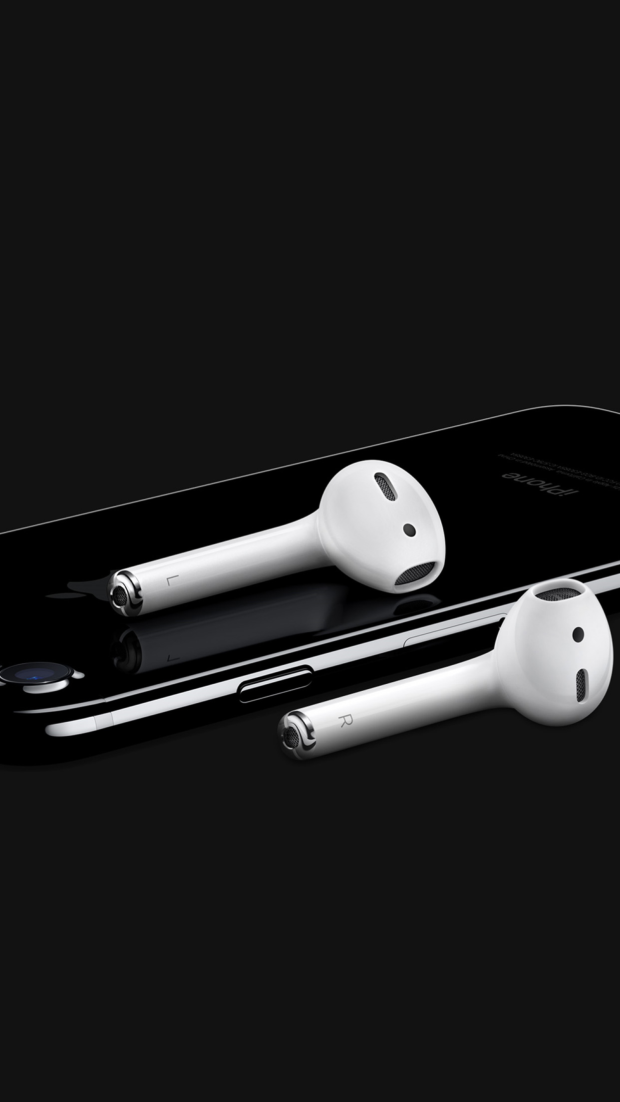 Apple Iphone7 Dark Airpod Art Illustration Android Wallpaper