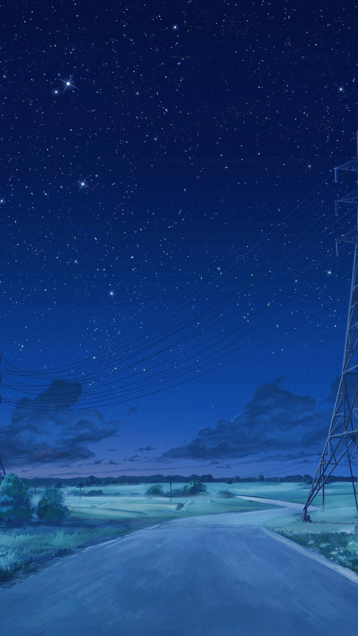 arseniy chebynkin night sky star blue illustration art anime android wallpaper android hd wallpapers