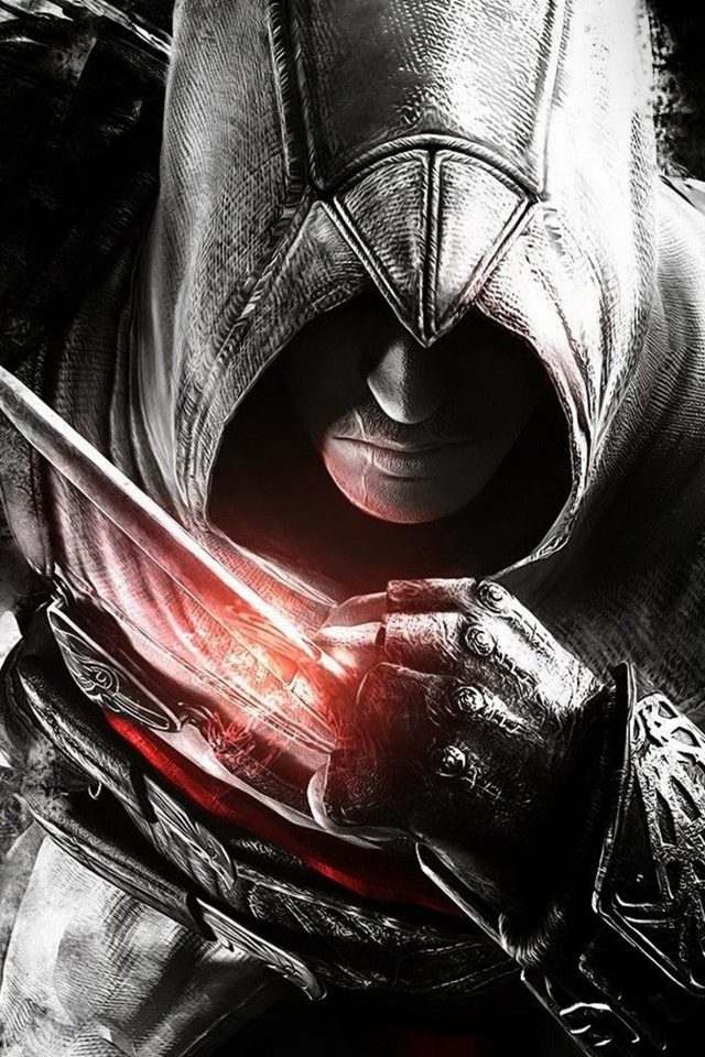 Assassins Creed Dark Game Hero Illustration Art Android wallpaper