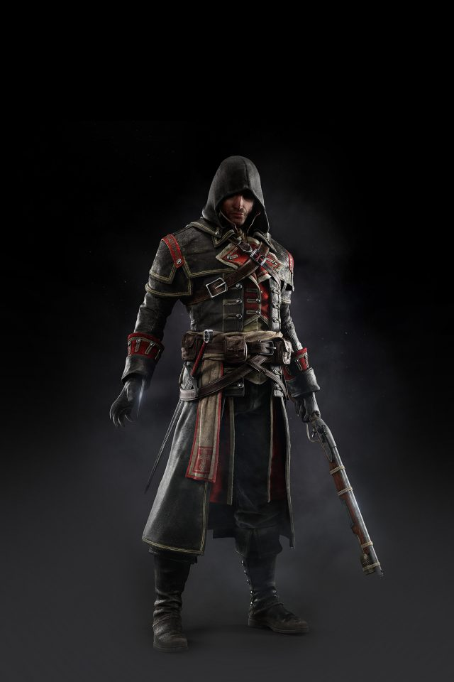 Assassins Creed Rogue Game Art Dark Shay Hood Android wallpaper