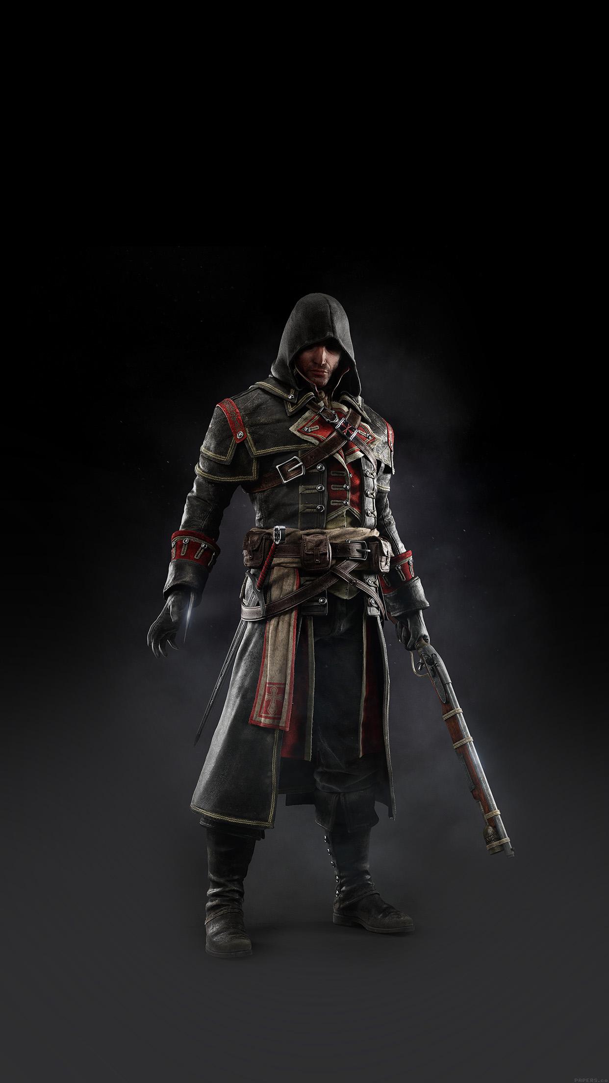 Assassins Creed Rogue Game Art Dark Shay Hood Android Wallpaper