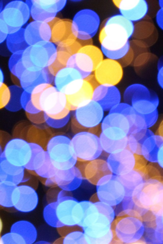 Bokeh Art Light Blue Pattern Android wallpaper