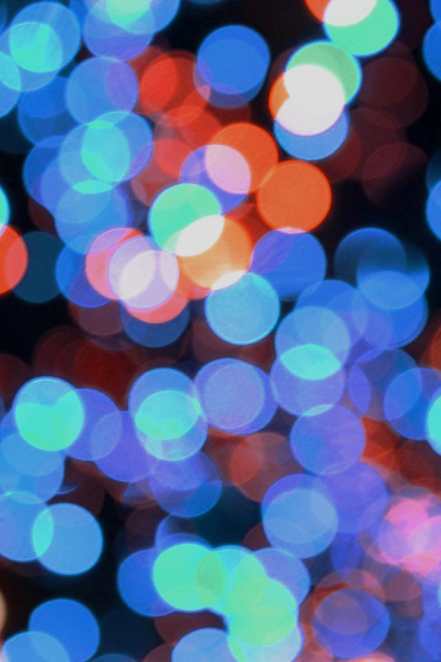 Bokeh Art Light Blue Red Pattern Android wallpaper