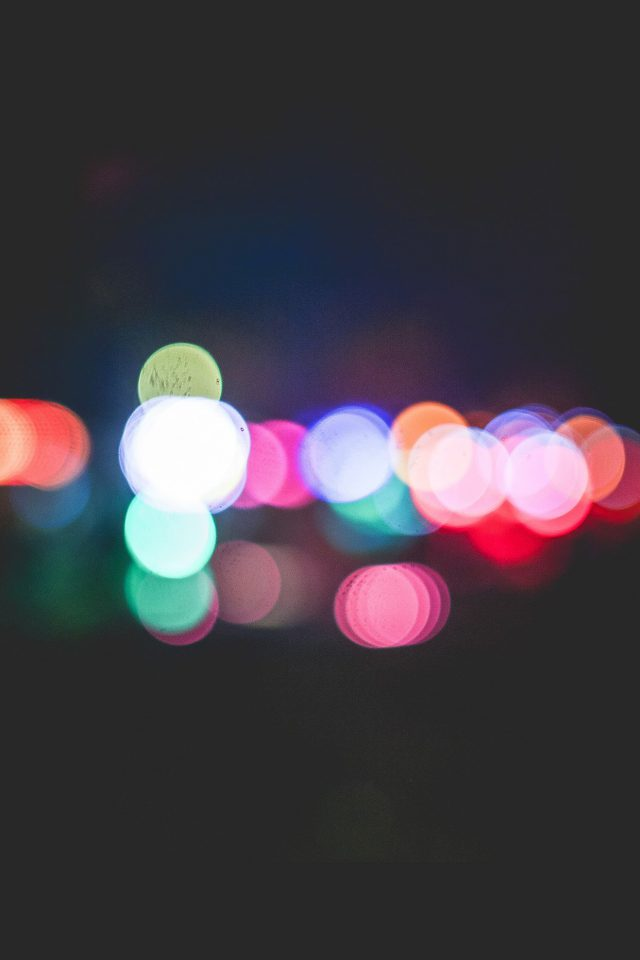 Bokeh Art Light Dark Pattern Color Android wallpaper