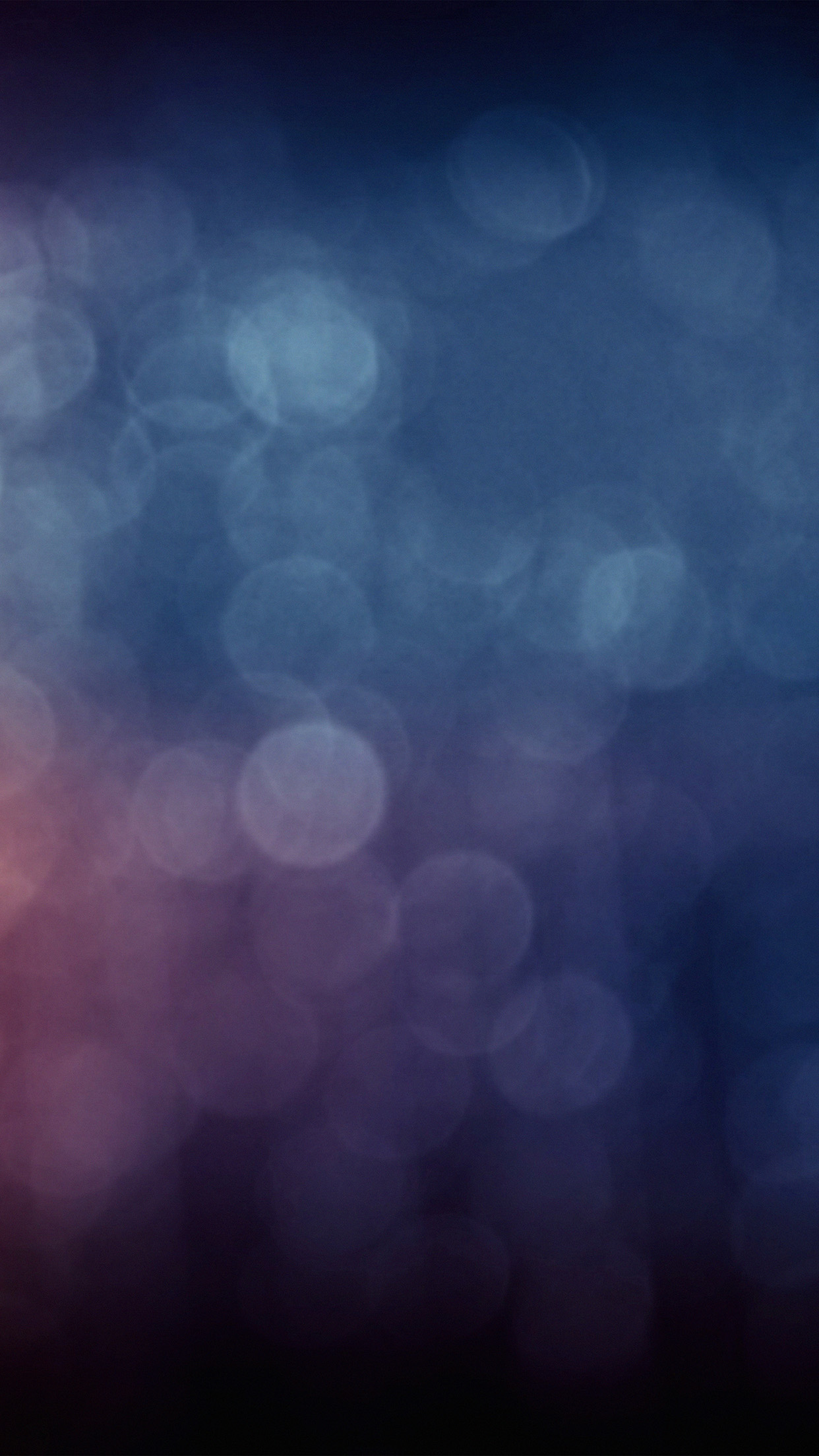 Bokeh Blue Purple Dark Night Pattern Android Wallpaper
