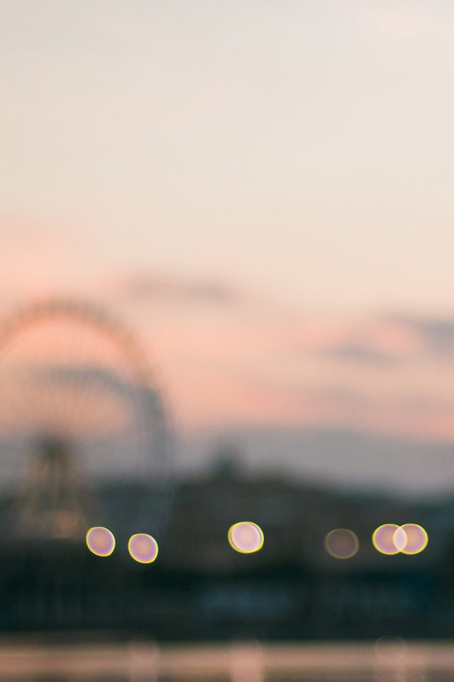 Bokeh Circle Sunset Afternoon London Android wallpaper