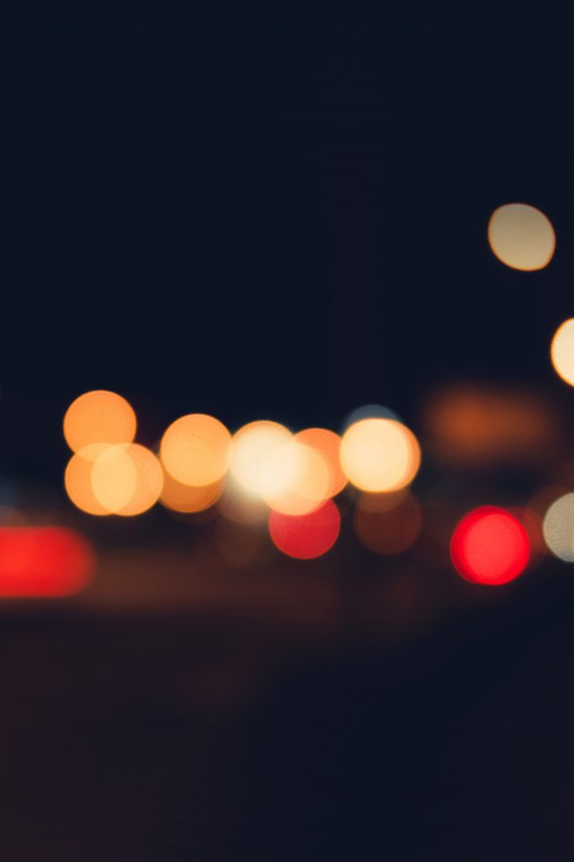 Bokeh Dark Lights Night Art Simple Android wallpaper