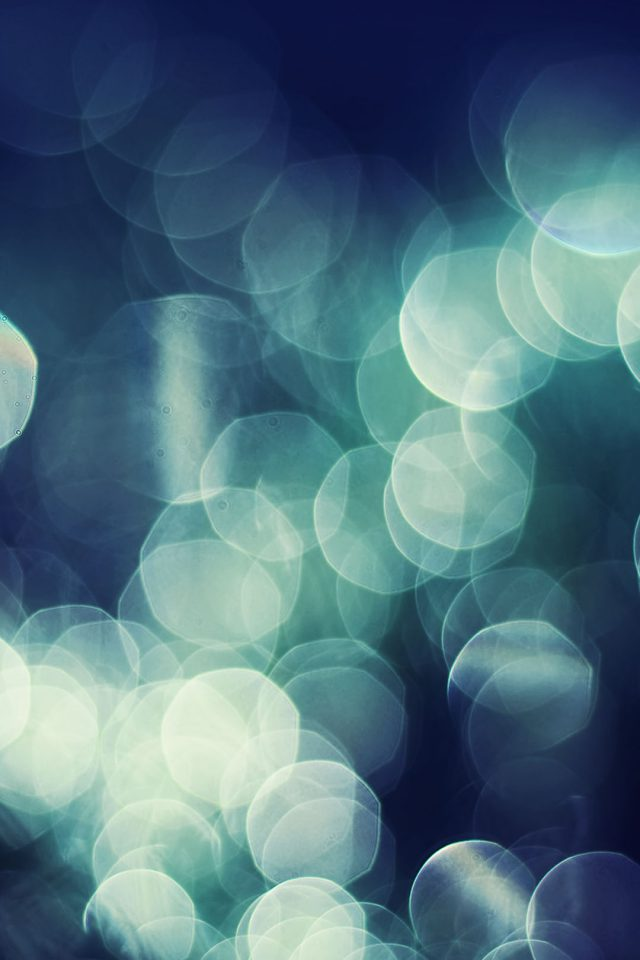 Bokeh Dark Nature Lights Blur Android wallpaper