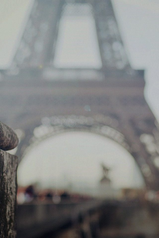 Bokeh Eiffel Tower Paris France Nature Android wallpaper