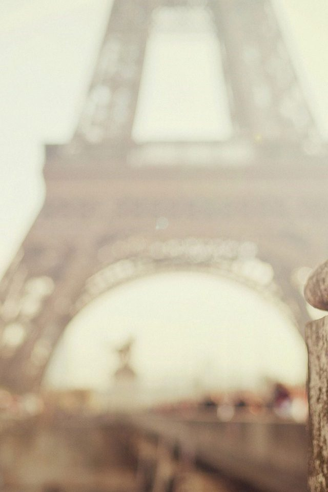 Bokeh Eiffel Tower Paris Nature Android wallpaper