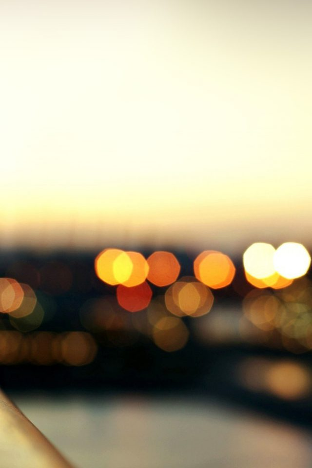 Bokeh Light Water City Nature Android wallpaper
