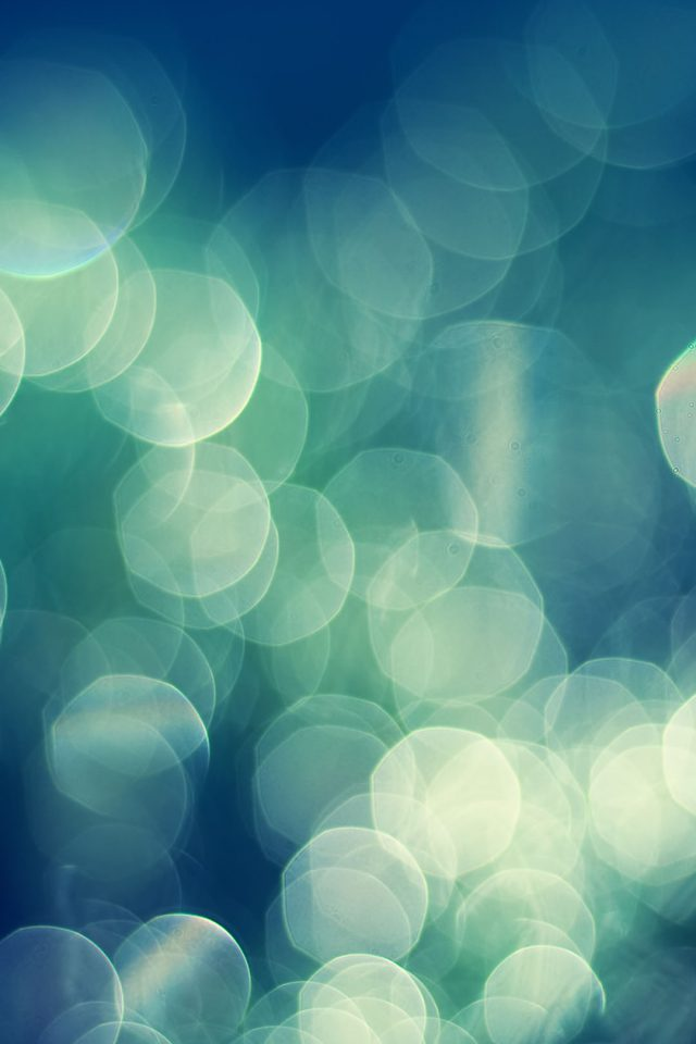 Bokeh Nature Lights Blur Android wallpaper