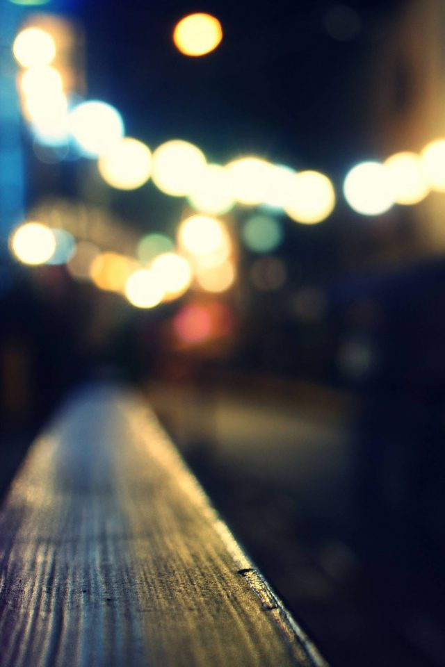 Bokeh Night Siren Lights Android wallpaper