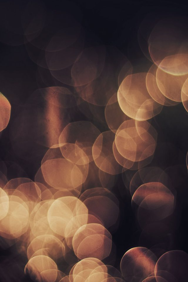 Bokeh Orange Nature Lights Blur Android wallpaper