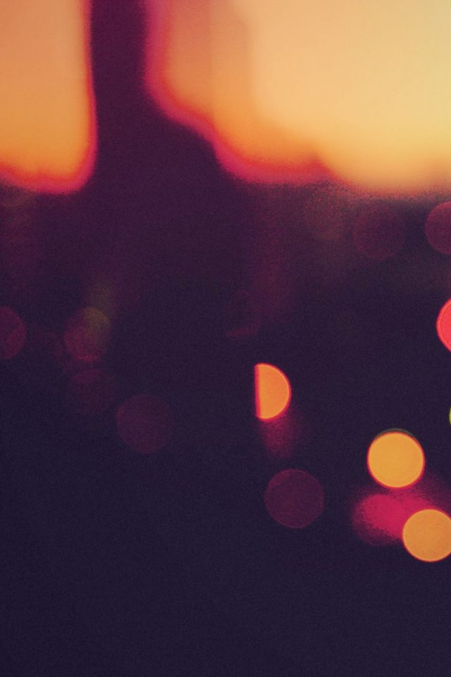 Bokeh Sunset Pattern Android wallpaper