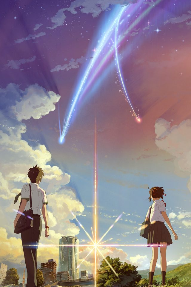 Boy And Girl Anime Art Spring Cute Flare Android wallpaper