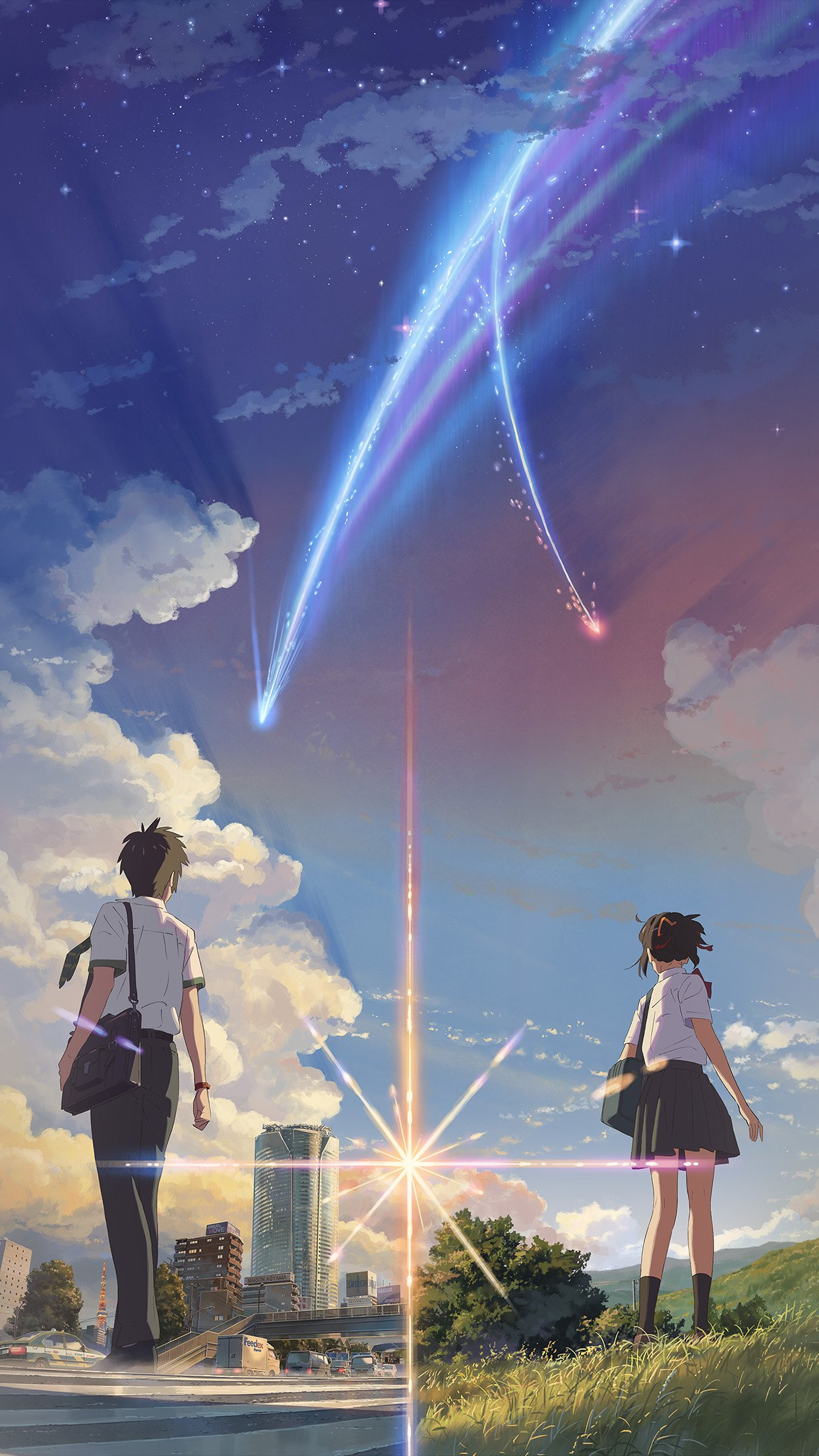 Boy And Girl Anime Art Spring Cute Android Wallpaper