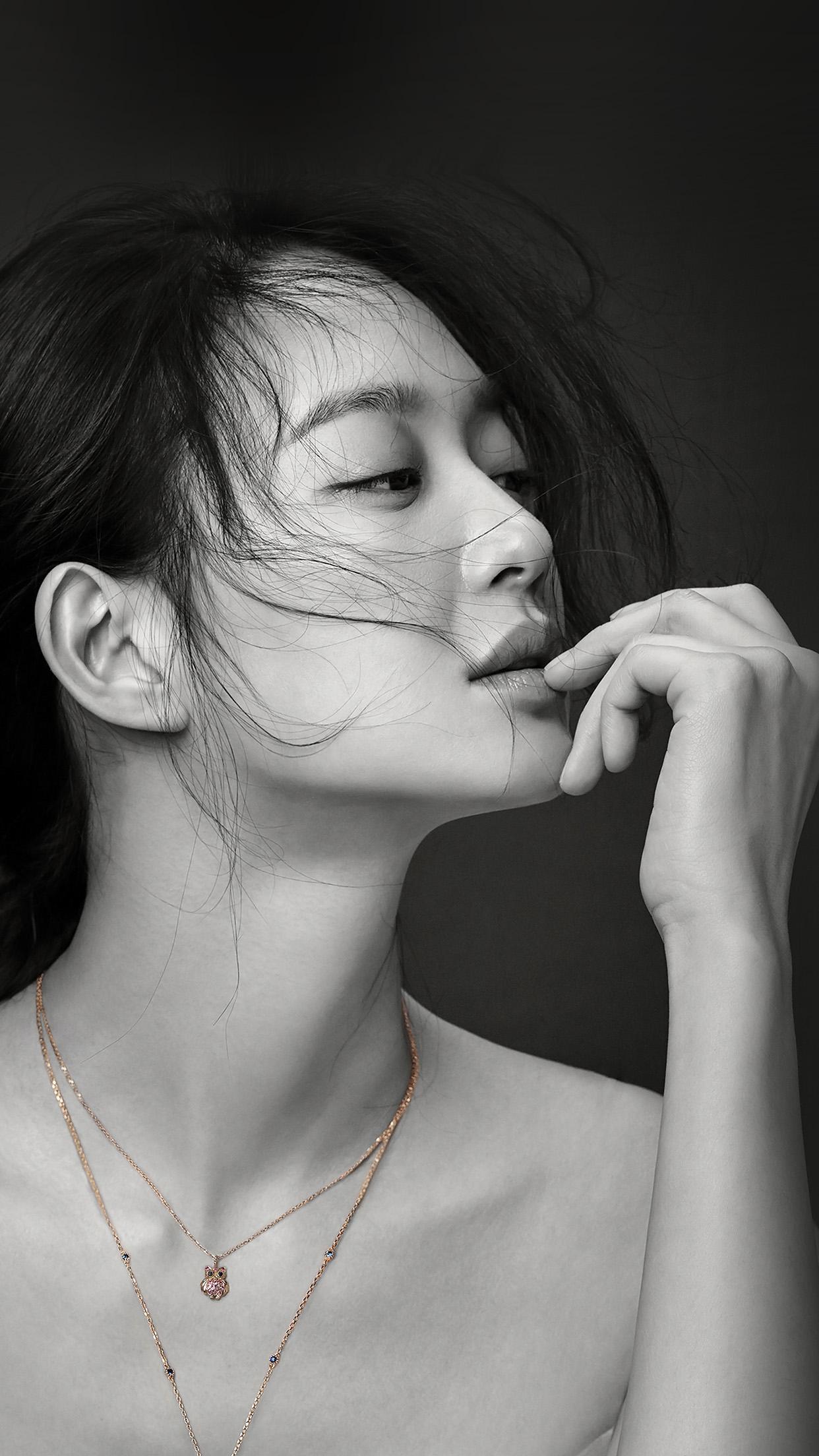 Bw Kpop Girl Shin Mina Android Wallpaper
