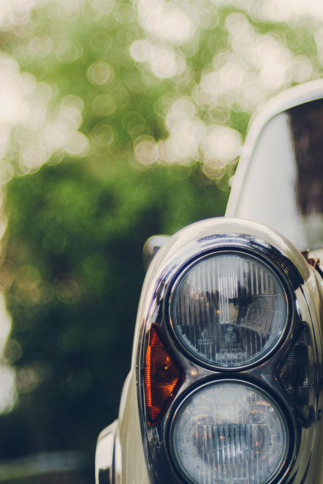 Car Blur Bokeh Light Art Nature Blue Android wallpaper