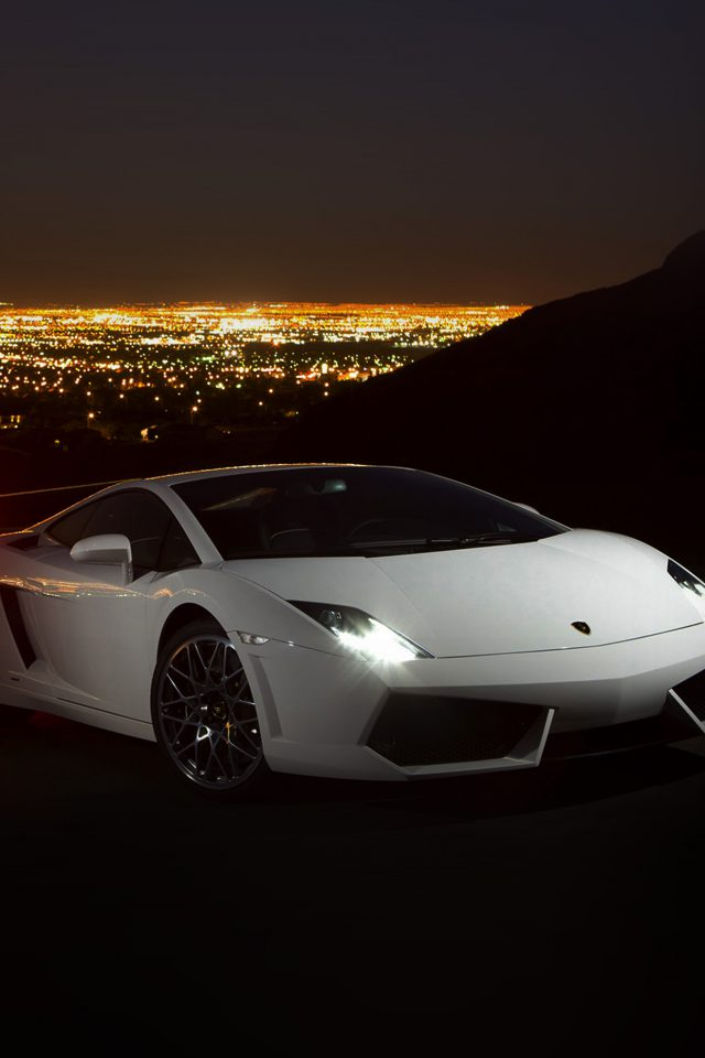 Car Lamborghini Art Dark Night Drive Android wallpaper