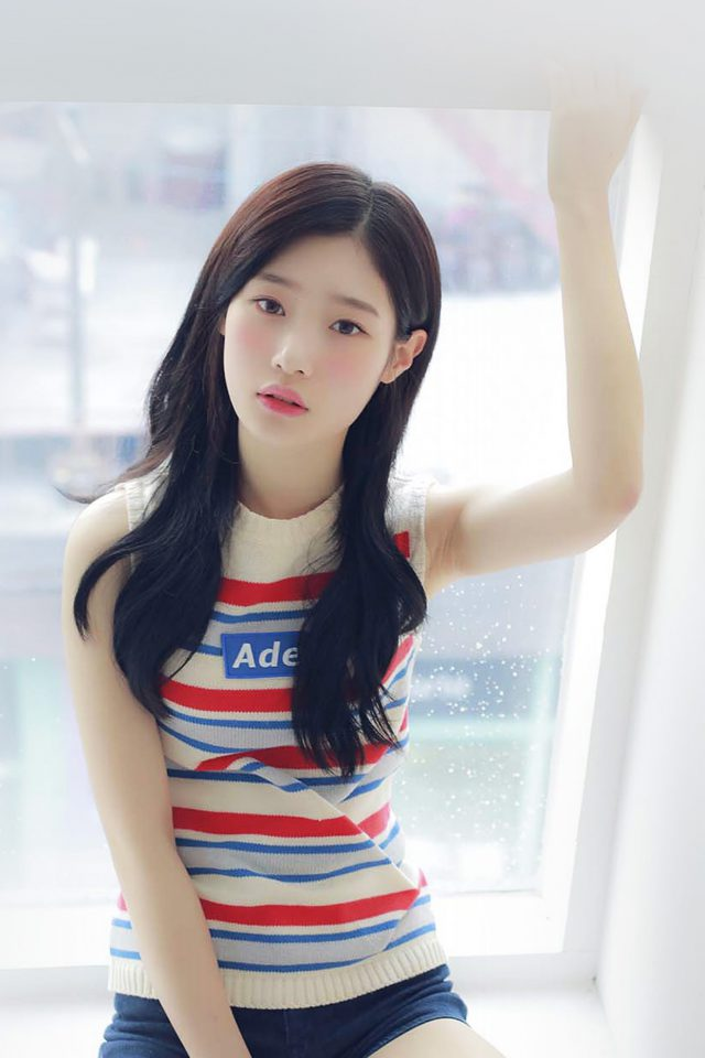 Chaeyeon Ioi Kpop Girl White Cute Android wallpaper