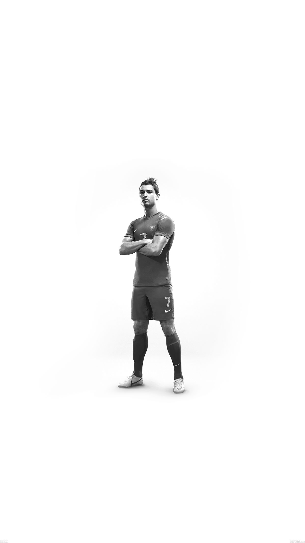 Christiano Ronaldo 7 Proud White Android wallpaper