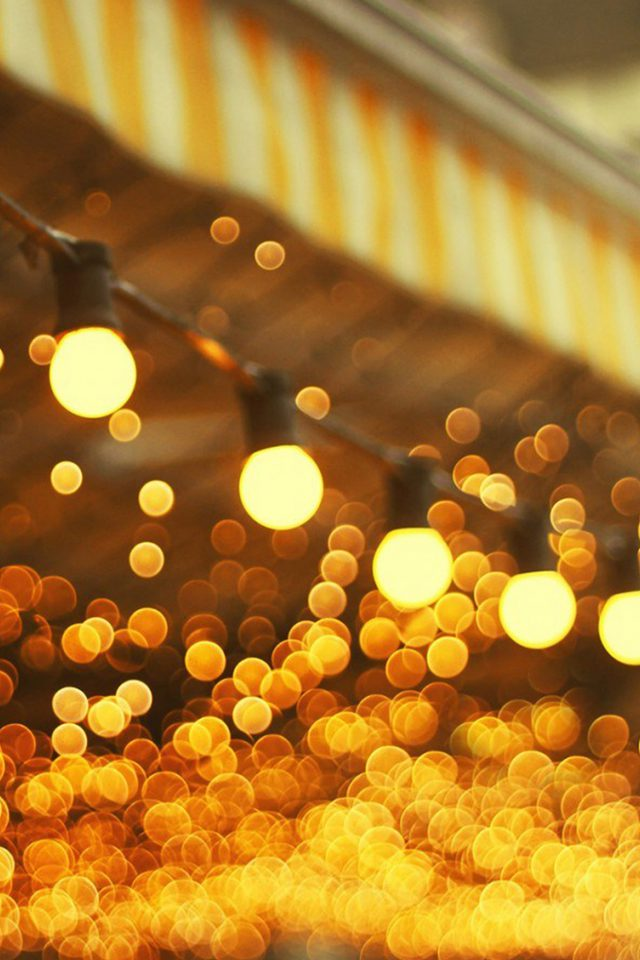City Light Bulbs Romantic Street Android wallpaper