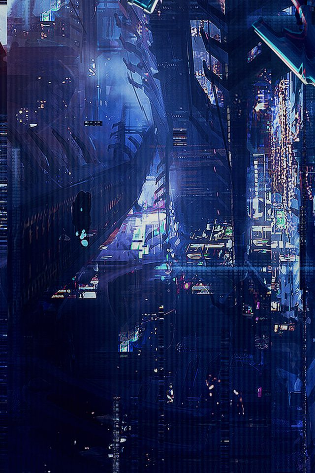 Digital World Anime Art Illust Urban Android wallpaper