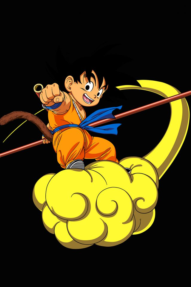 Dragonball Goku Cloud Fly Anime Art Illust Android wallpaper