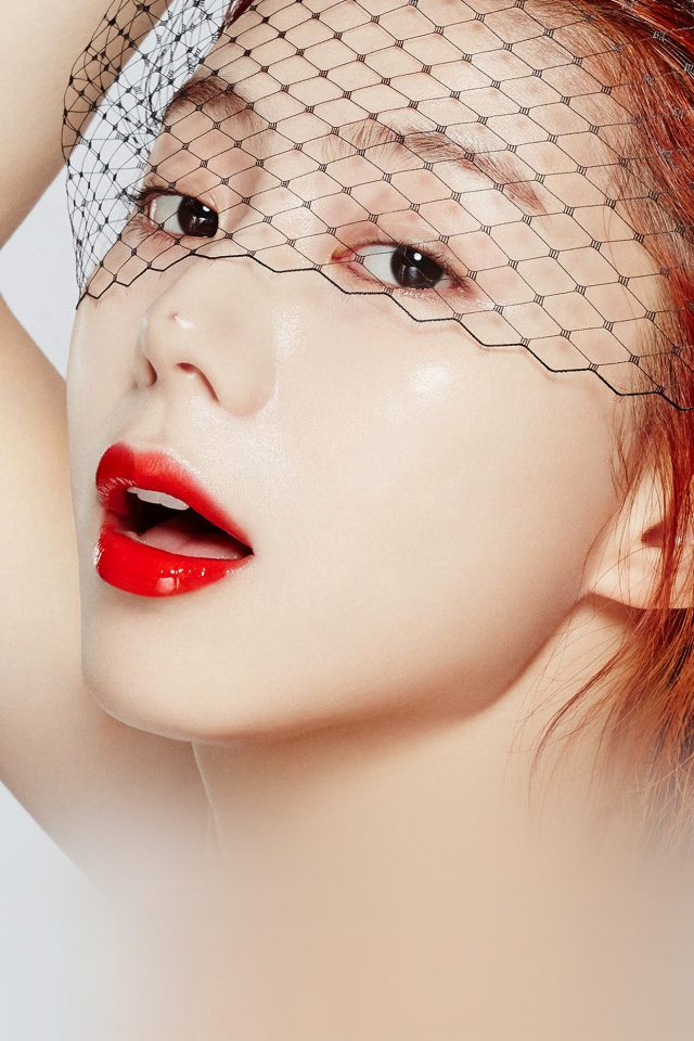 Face Kpop Sujin Lips Red Android wallpaper