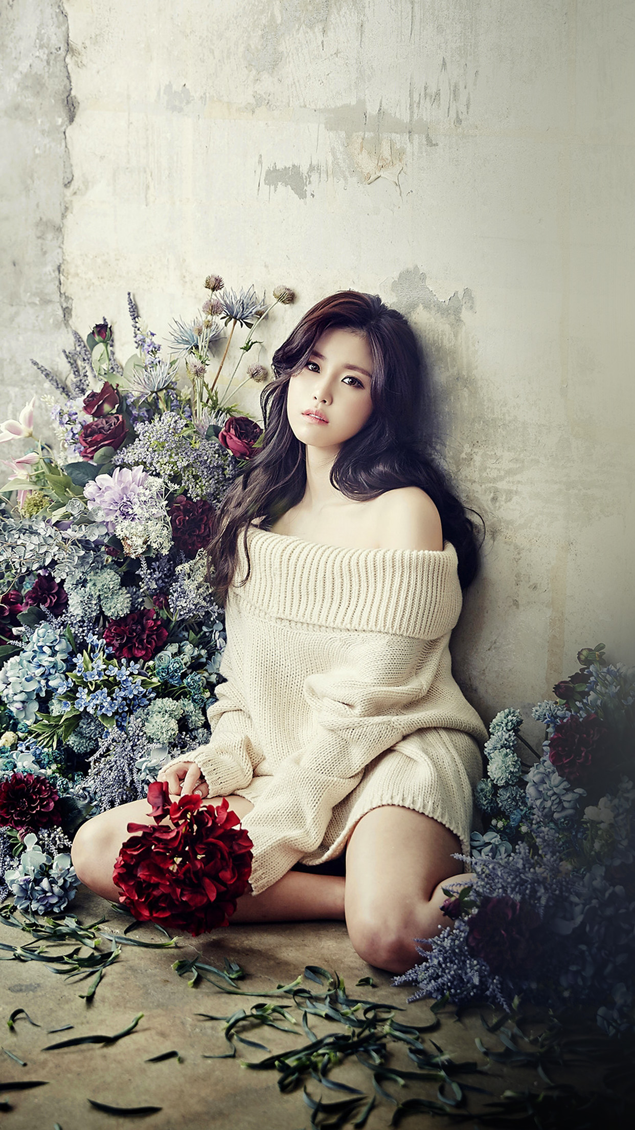 Flower Girl Hyosung Girl Kpop Celebrity Android wallpaper