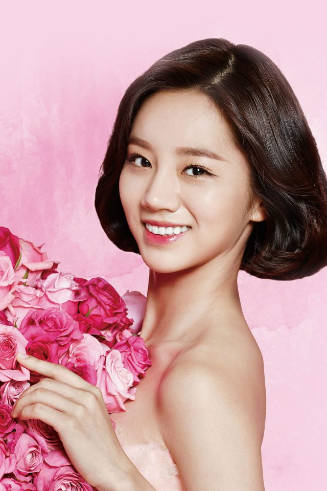 Flower Hyeri Cute Pink Kpop Girl Android wallpaper