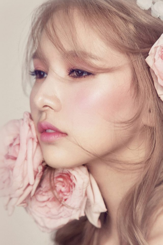 Flower Pink Kpop Girl Android wallpaper