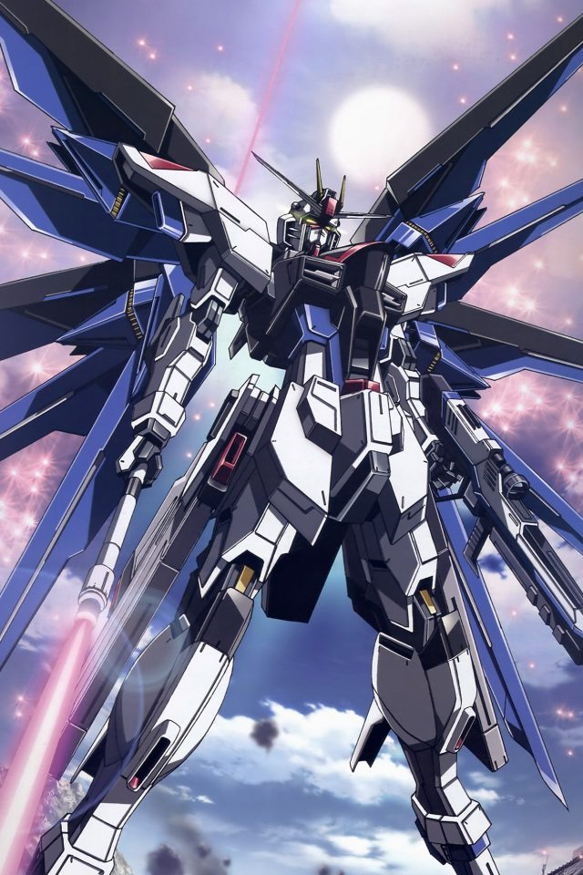 Freedom Gundam Art Illustration Anime Android wallpaper