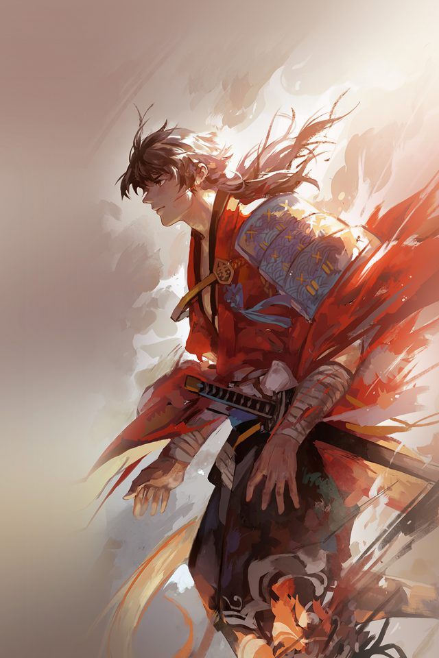 Hanyijie Hero Red Handsomeillustration Art Anime Android wallpaper