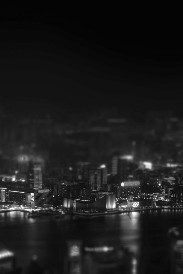 Hongkong Night Cityscapes Dark Android wallpaper