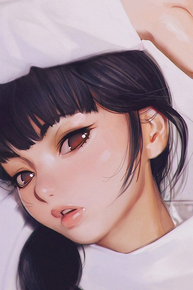 Ilya Kuvshinov Anime Girl Shy Cute Illustration Art Android wallpaper