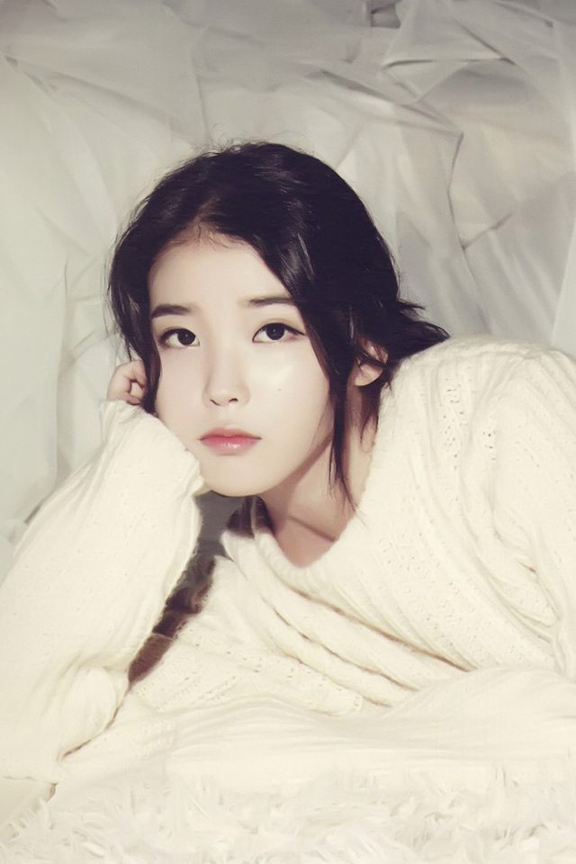 Iu Kpop Girl Cute Android wallpaper