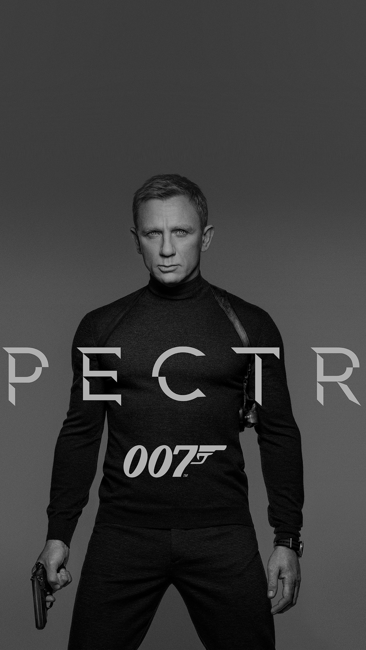 James Bond 007 Spectre Movie Film Poster Dark Bw Android wallpaper