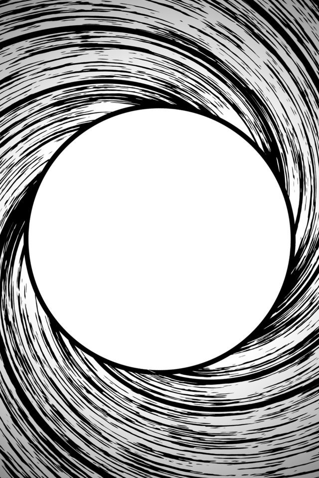 James Bond Circle Bw Pattern Android wallpaper