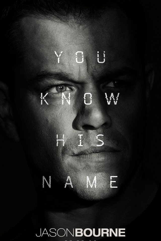 Jason Bourne Film Poster Art Illustration Android wallpaper