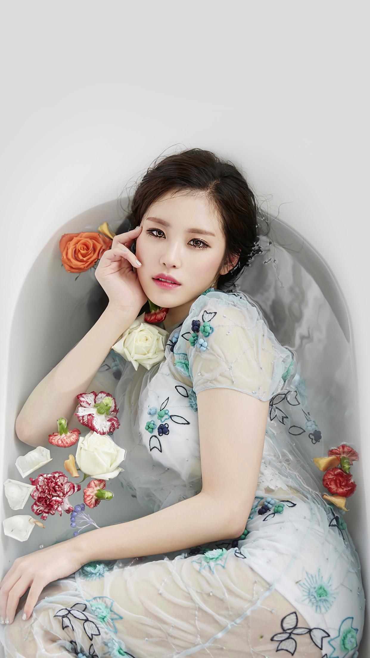 . Kpop Artist Jeon Hyosung Secret Beauty Bath Android wallpaper