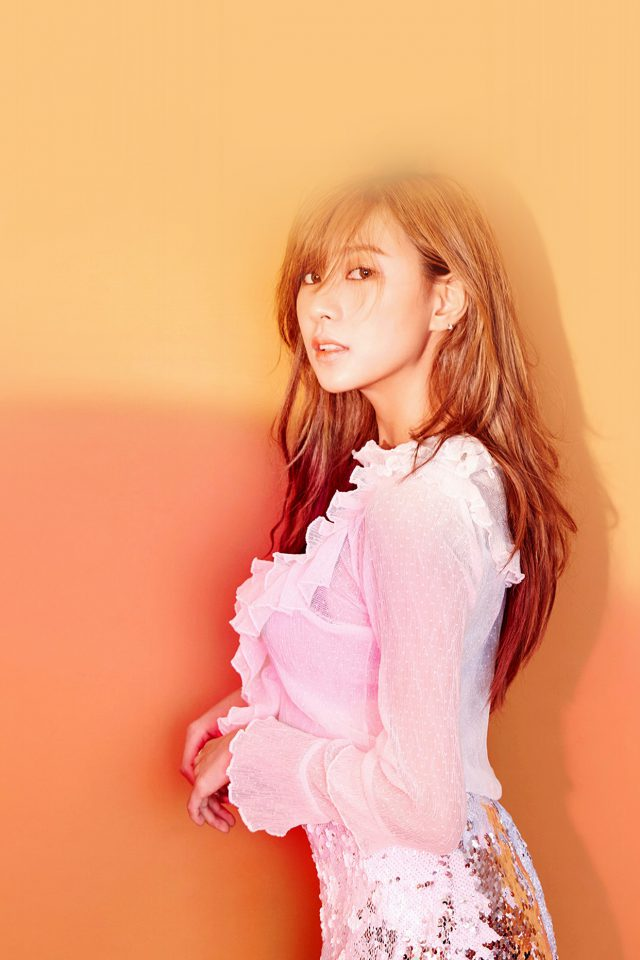 Kpop Girl Apink Hayoung Orange Red Android wallpaper
