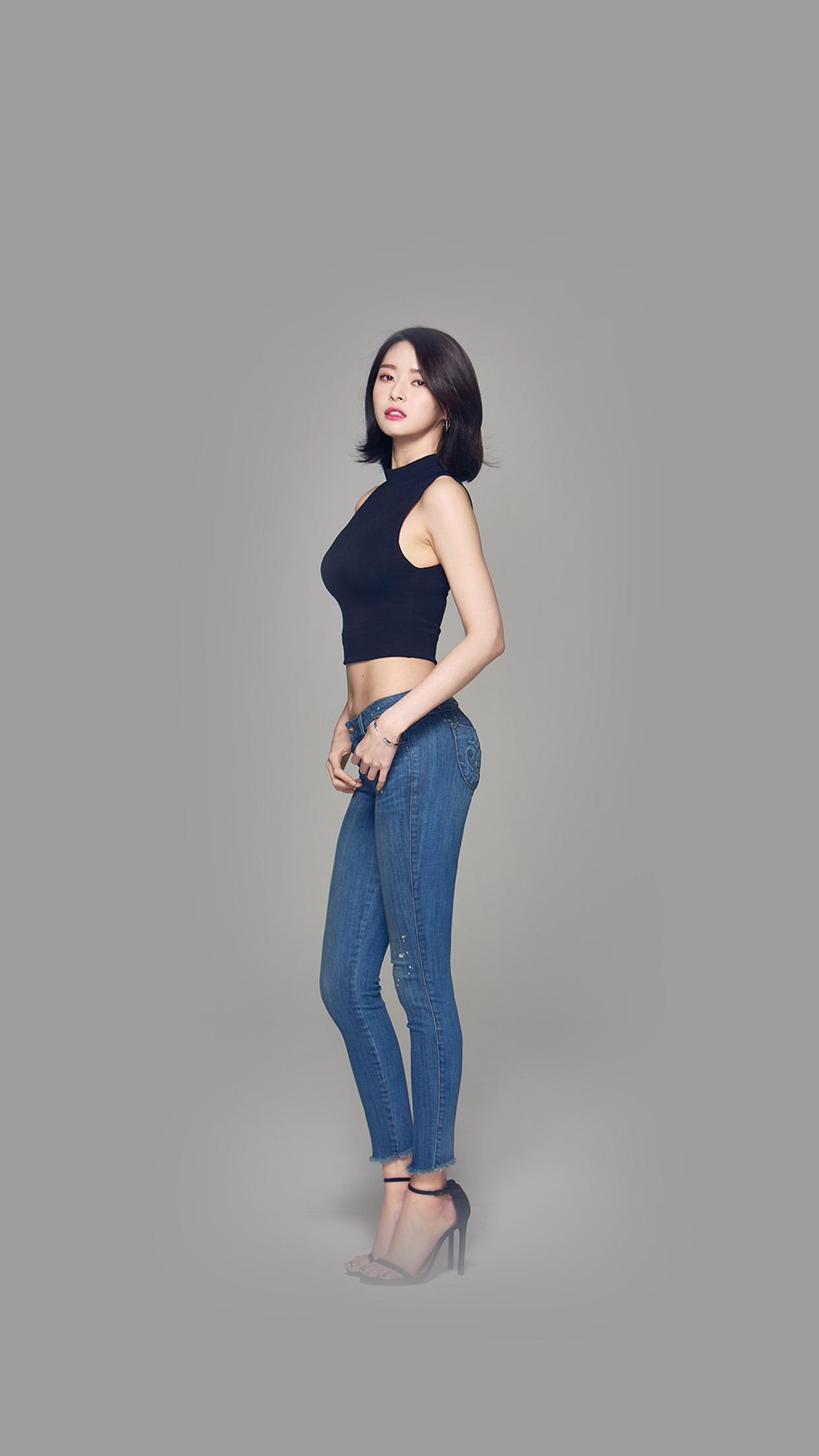 Kpop Girl Kwon Nara Hellovenus Jean Hot Android Wallpaper