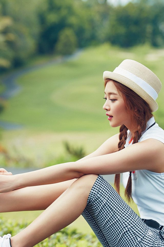 Kpop Golf Model Girl Jo Boa Android wallpaper