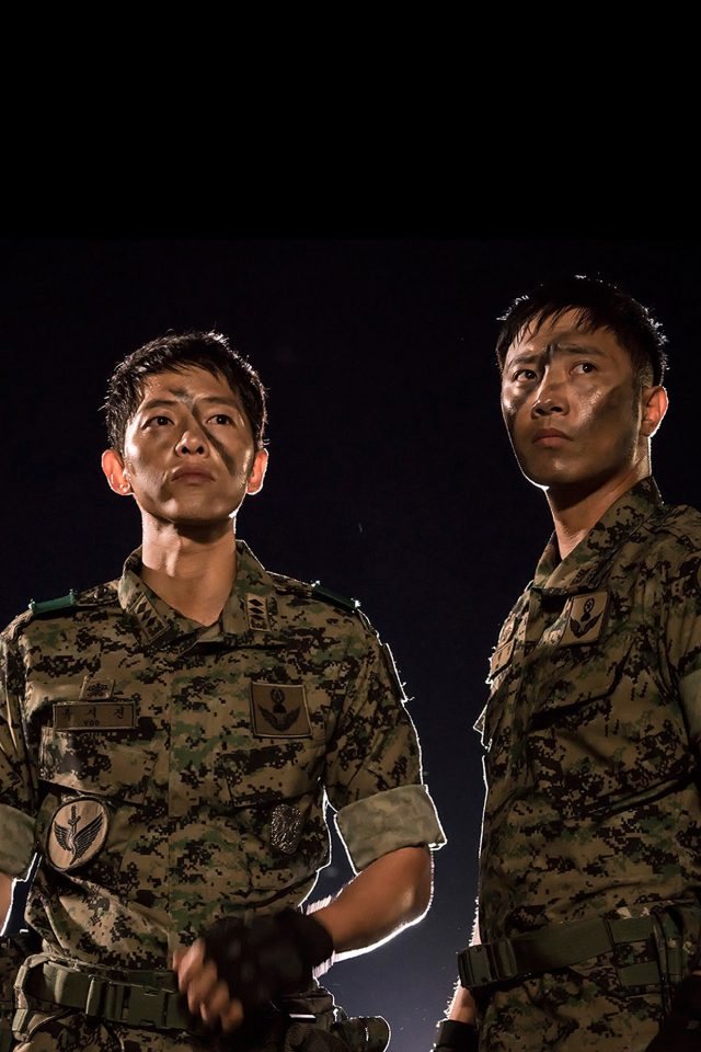 Kpop Sun Song Joonggi Military Descendants Of The Sun Android wallpaper