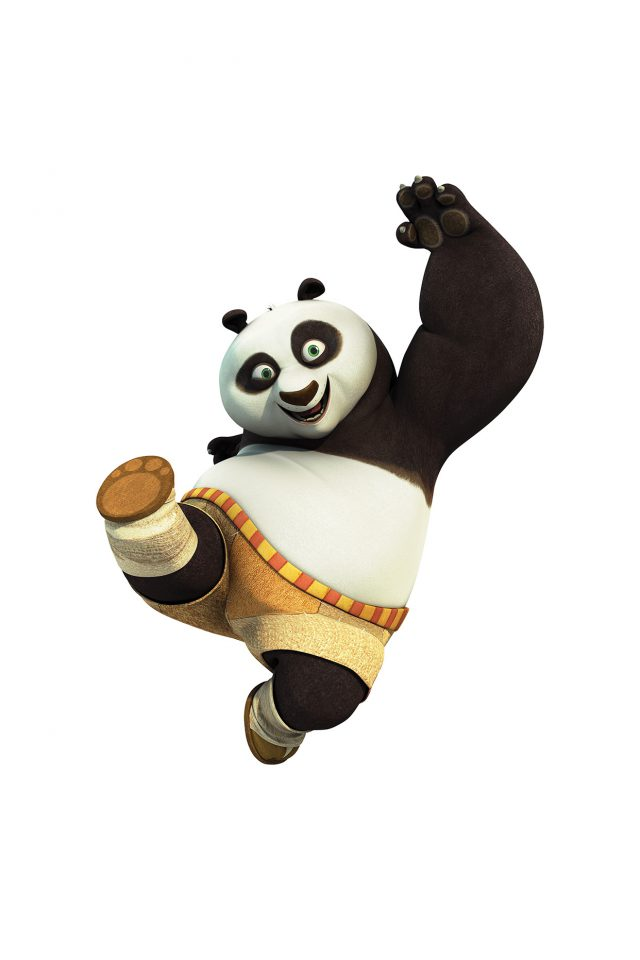 Kungfu Panda Animal Dreamworks Kick Cute Anime Android wallpaper