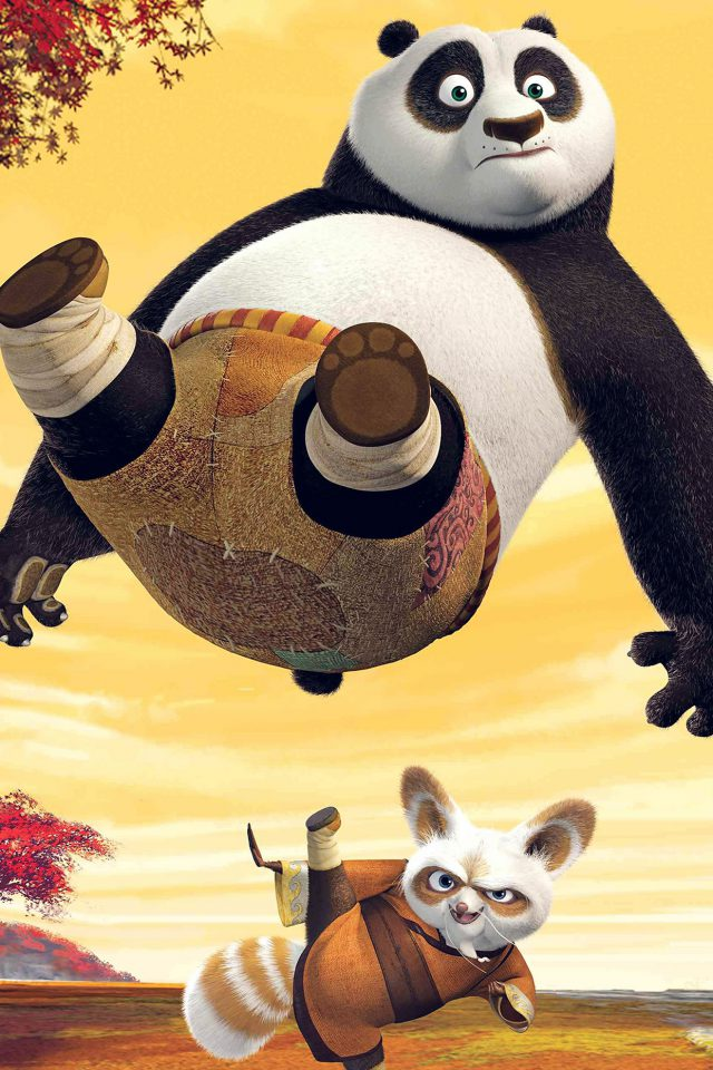 Kungfu Panda Dreamworks Art Kick Cute Anime Android wallpaper