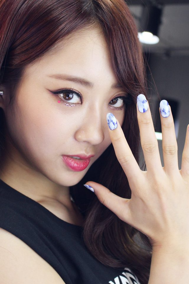 Kyungli Kpop Girl Nail Cute Android wallpaper